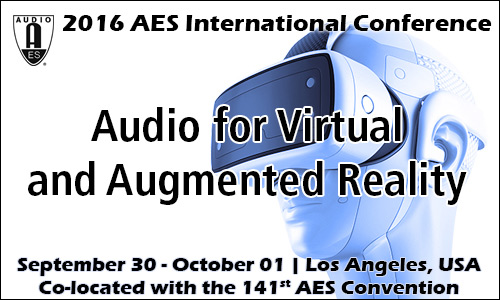 AES Conference on Audio for Virtual and Augmented Reality