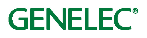 GENELEC is spelt out in green font on a white background.