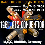 AES 126th Convention - Munich, Germany