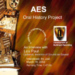 AES Oral History Project Releases First DVDs