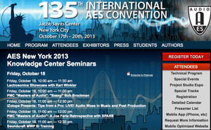 135th Audio Engineering Society Convention to Feature FREE Knowledge Center Presentations