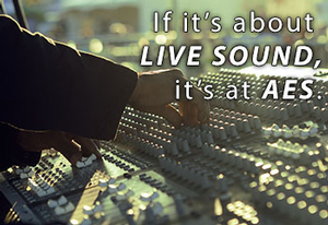 Sessions on Live Sound to Be Highlighted at 135th Audio Engineering Society Convention