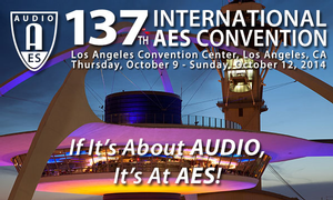 High Resolution Audio to Be a Major Focus at 137th Audio Engineering Society Convention