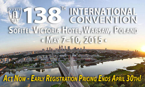 Early Registration Pricing Ends April 30, 2015, for 138th AES International Convention in Warsaw, Poland