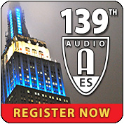 139th International Audio Engineering Society Convention Welcomes Attendees with Special Events and Presentations