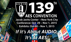 Audio Engineering Society Offers Tech Program Details for AES139 Convention New York City