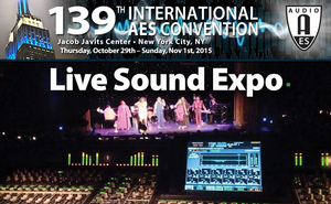Live Sound Expo Topics Announced for 139th Audio Engineering Society Convention In New York City