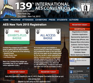 Early Registration Pricing Ends July 31 for AES139 International Convention in New York City