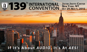 Live Sound Expo and Project Studio Expo Take Center Stage at Upcoming 139th AES International Convention in New York City