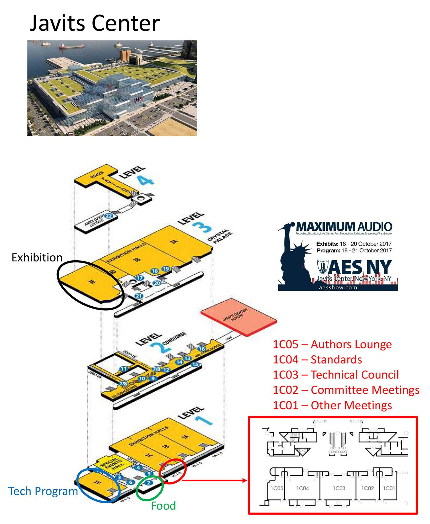 Javits Center Map AES New York 2017 » Map of Javits