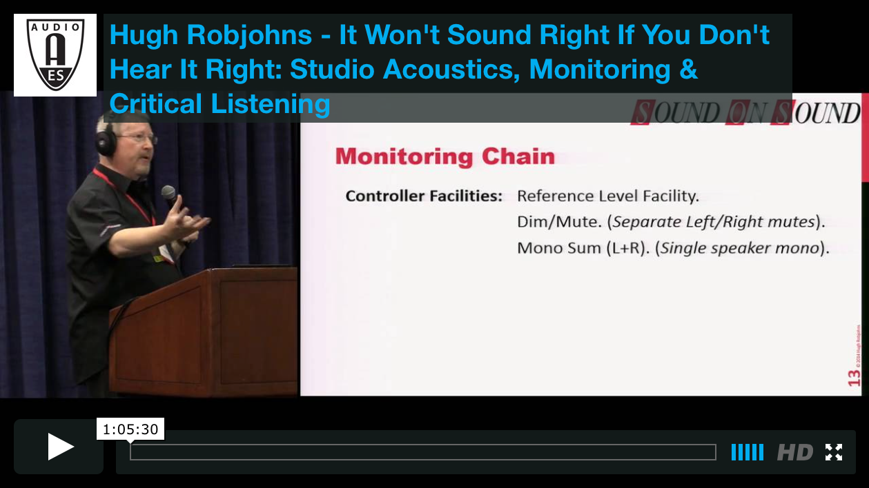 Hugh Robjohns: It Won't Sound Right If You Don't Hear It Right: Studio Acoustics, Monitoring & Critical Listening