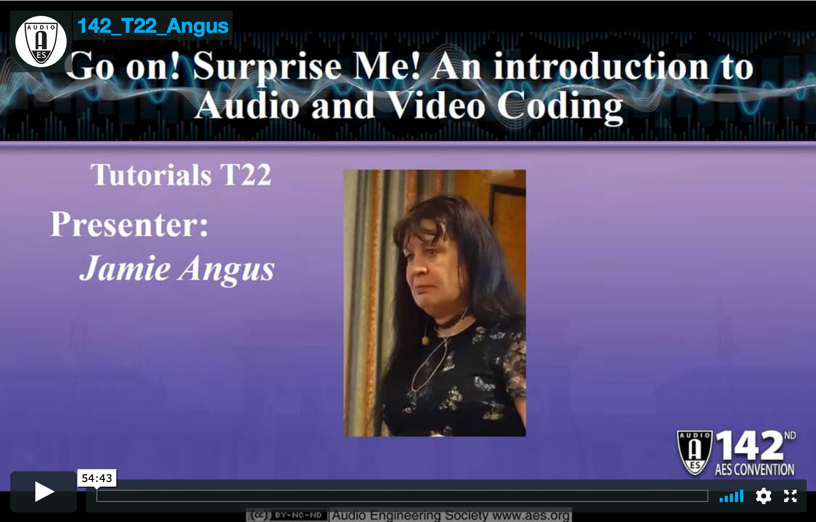 Jamie Angus: Go on! Surprise Me! An introduction to Audio and Video Coding