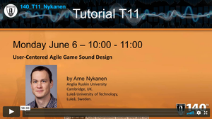 Arne Nykanen: User-Centered Agile Game Sound Design