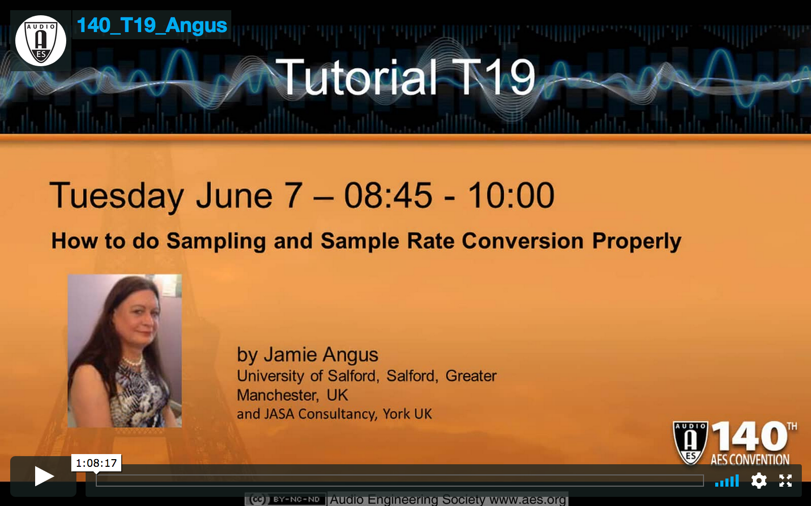 Jamie Angus: How to Do Audio Sampling, and Sample Rate Conversion, Properly!