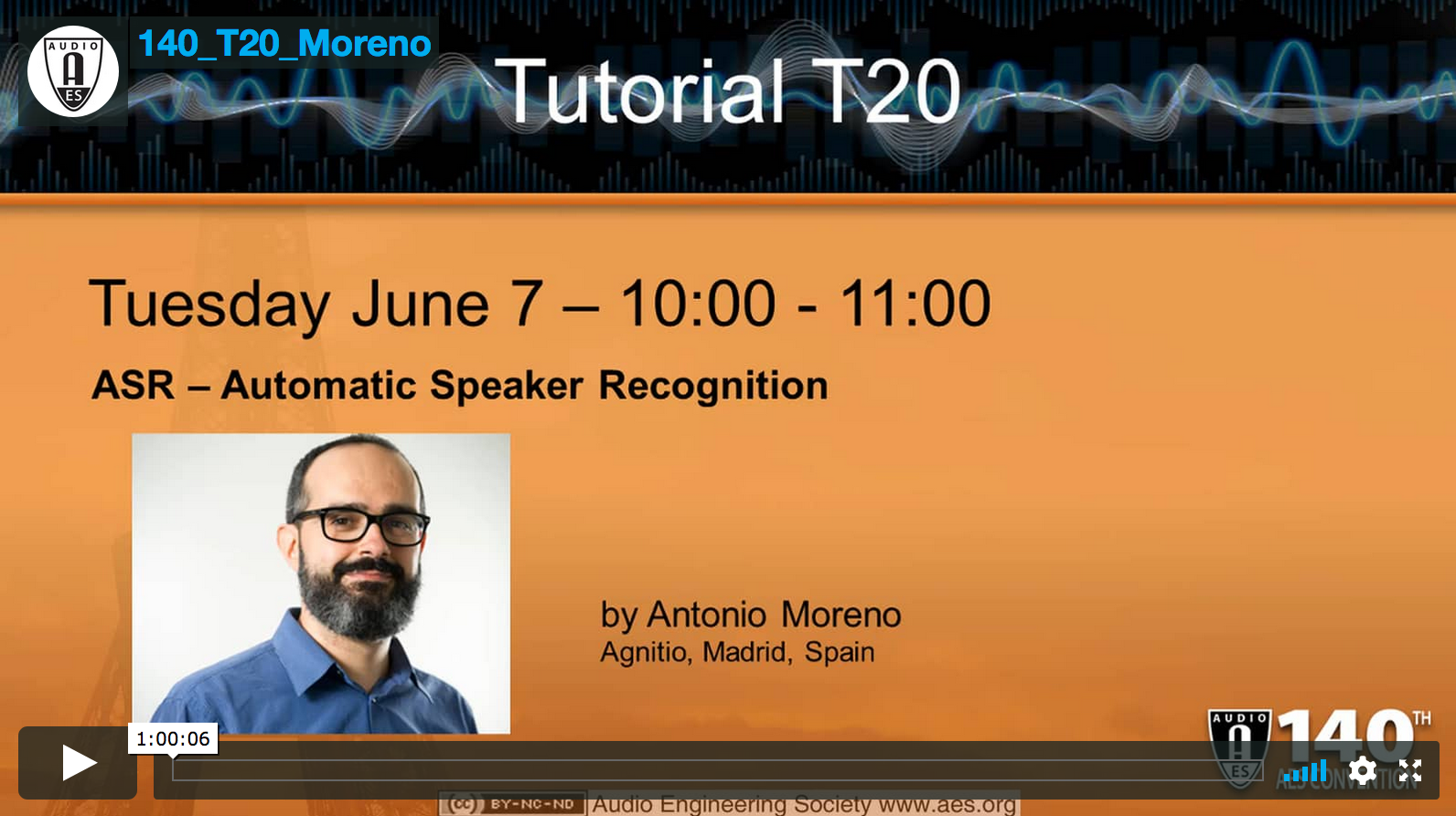 Antonio Moreno: ASR - Automatic Speaker Recognition