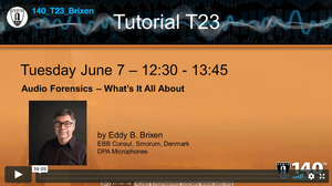 Eddy B. Brixen: Audio Forensics—What's It All About?