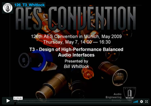 Bill Whitlock: Design of High-Performance Balanced Audio Interfaces