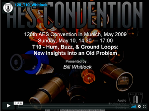 Bill Whitlock: Audio System Grounding & Interfacing—An Overview