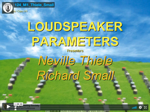 Neville Thiele & Richard Small: Loudspeaker Parameters