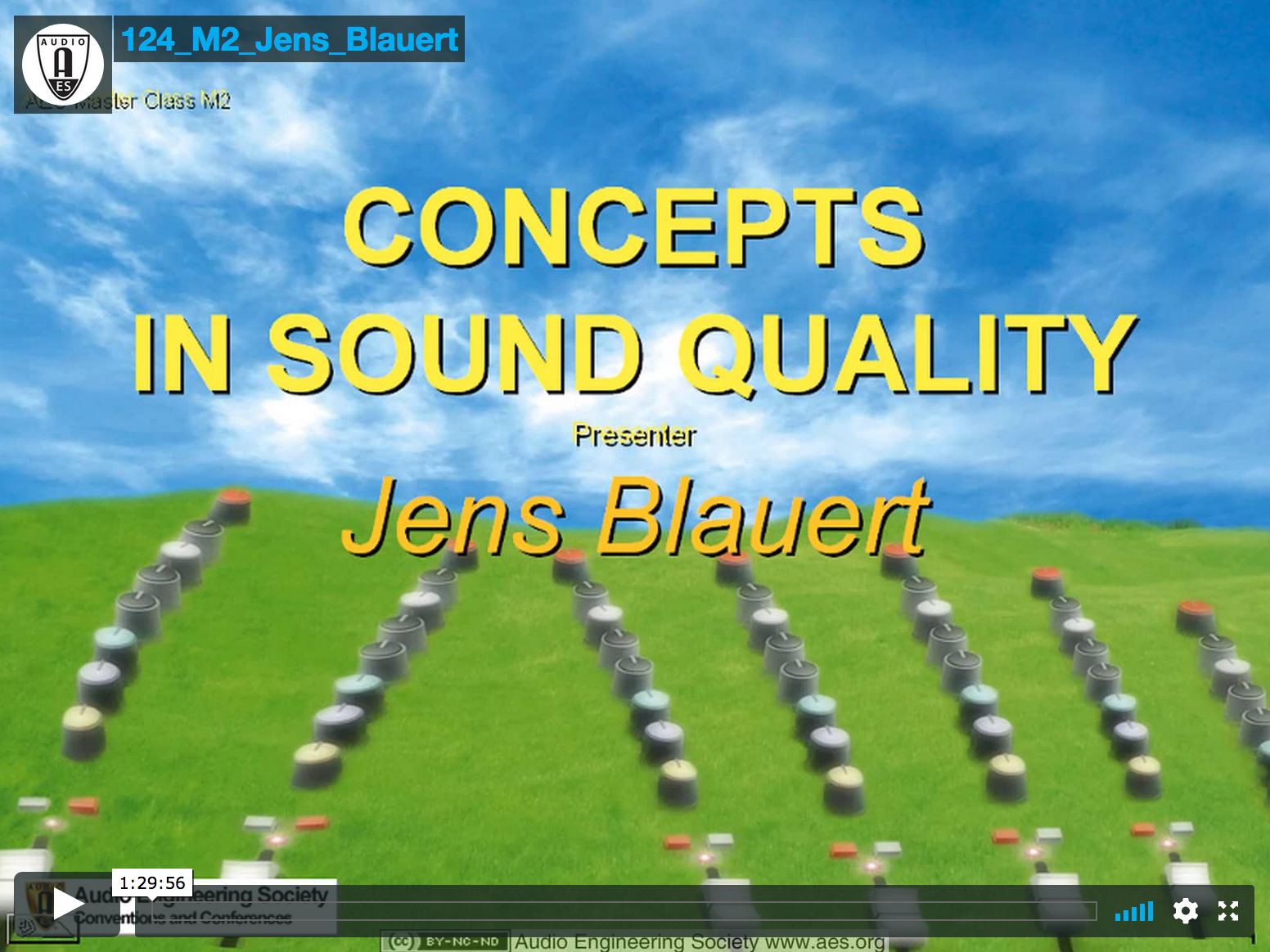 Jens Blauert: Concepts In Sound Quality