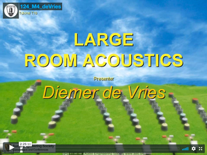 Diemer de Vries: Large Room Acoustics