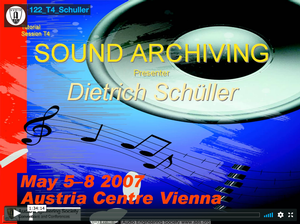 Dietrich Schüller: Sound Archiving