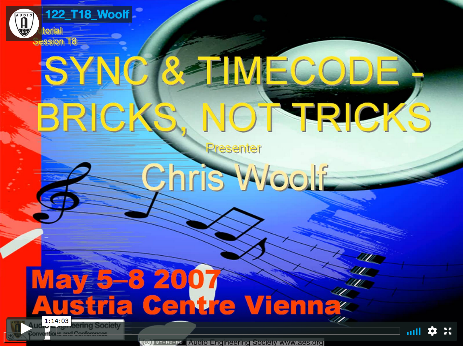 Chris Woolf: Sync and Timecode—Bricks Not Tricks