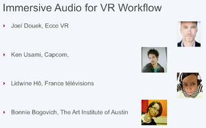 Immersive Audio for VR Workflow