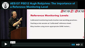 Hugh Robjohns: The Importance of a Reference Monitoring Level