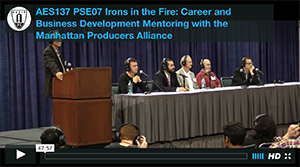 Irons in the Fire: Career and Business Development Mentoring with the Manhattan Producers Alliance