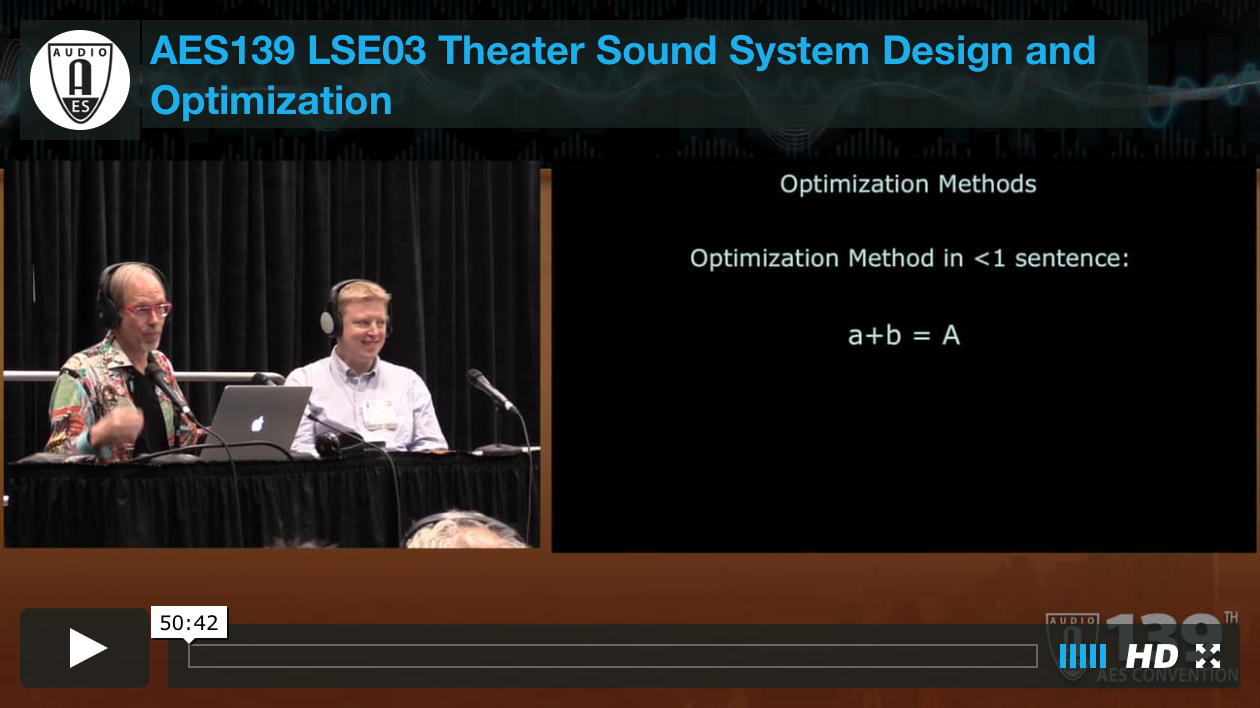 Theater Sound System Design and Optimization