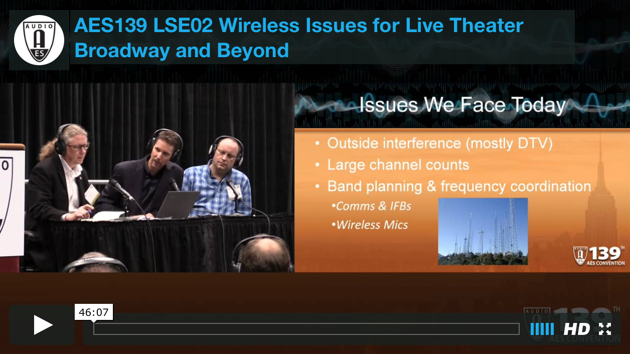Wireless Issues for Live Theater: Broadway and Beyond