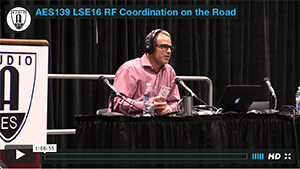 Ike Zimbel: RF Coordination on the Road