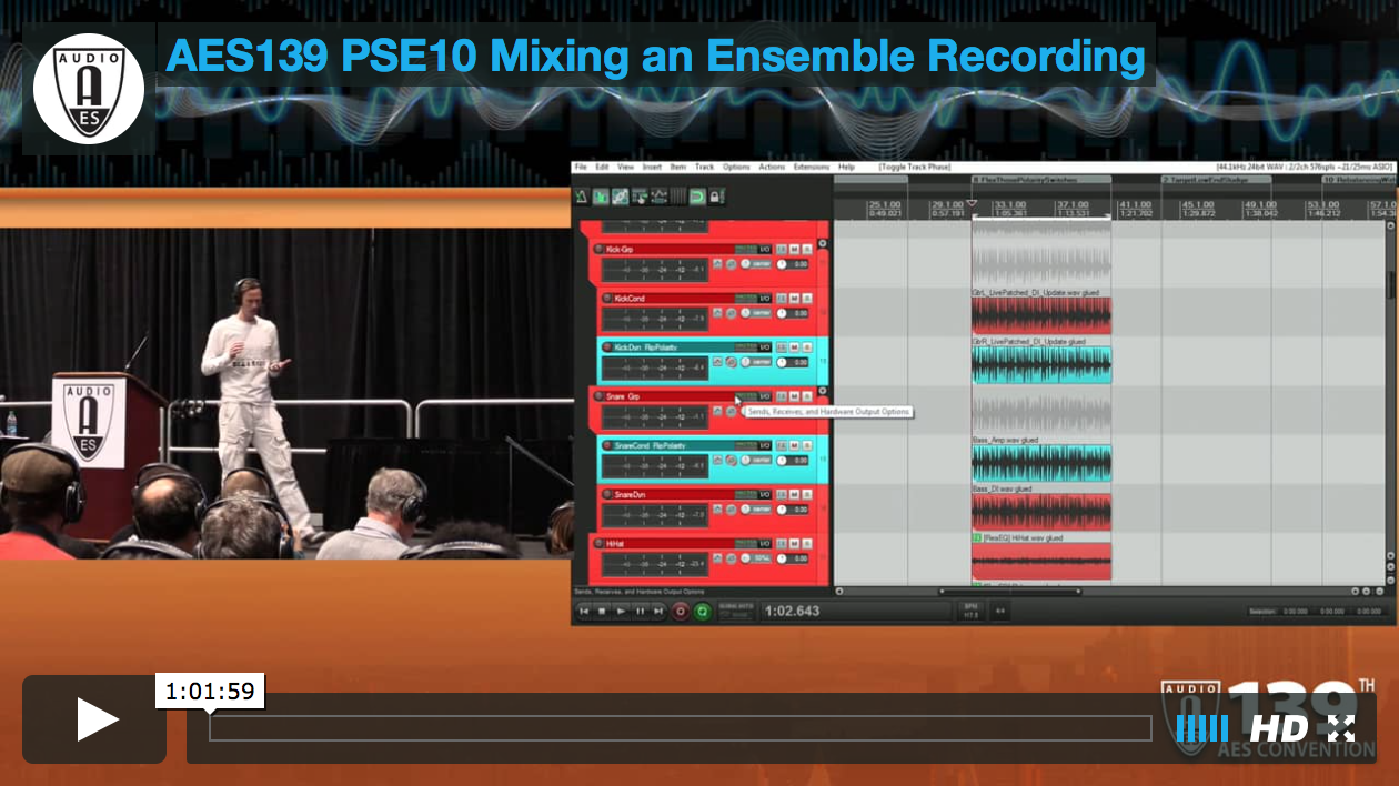 Mike Senior: Mixing An Ensemble Recording