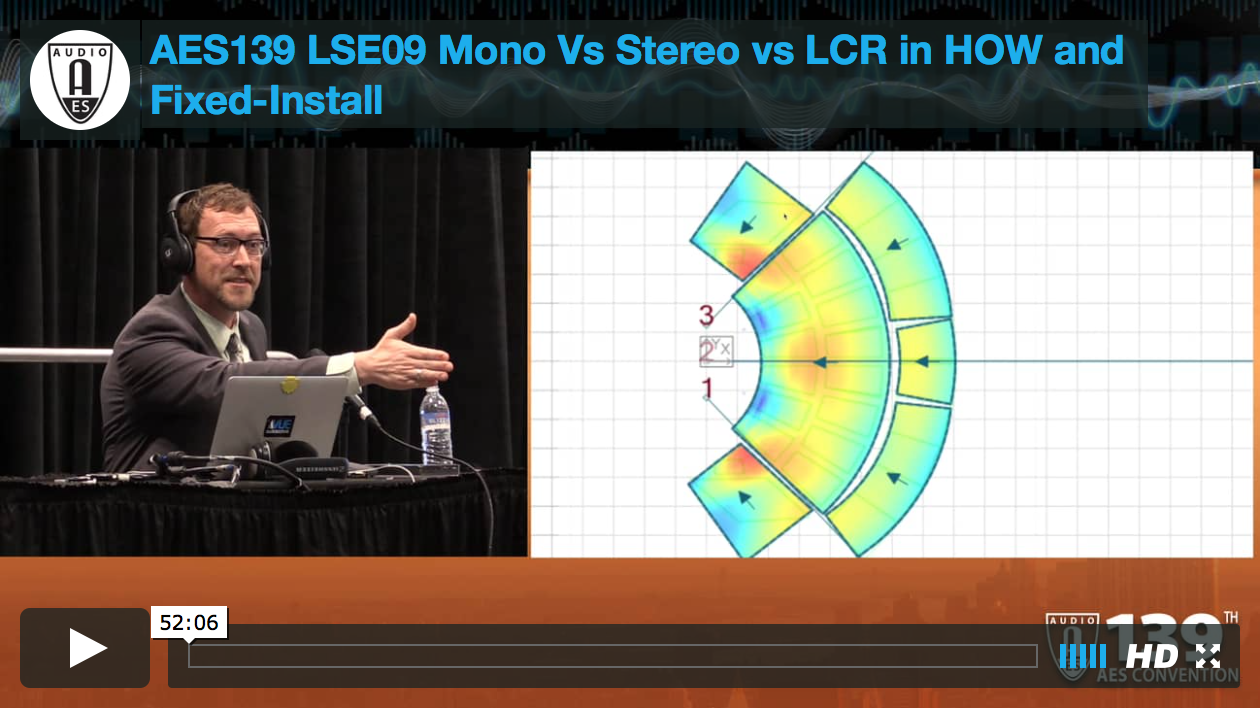 Jeff Taylor: Mono vs Stereo vs LCR in HOW and Fixed-Install