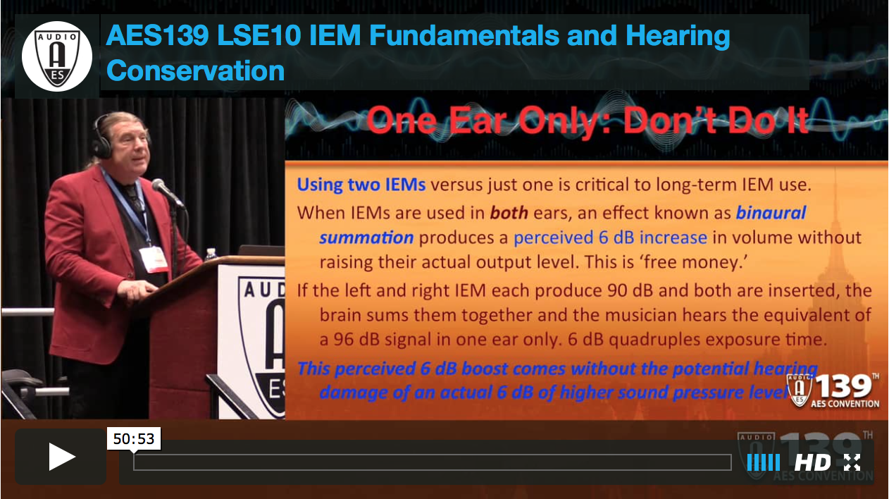 Mark Frink: IEM Fundamentals and Hearing Conservation