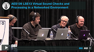 Virtual Sound Checks and Processing in a Networked Environment