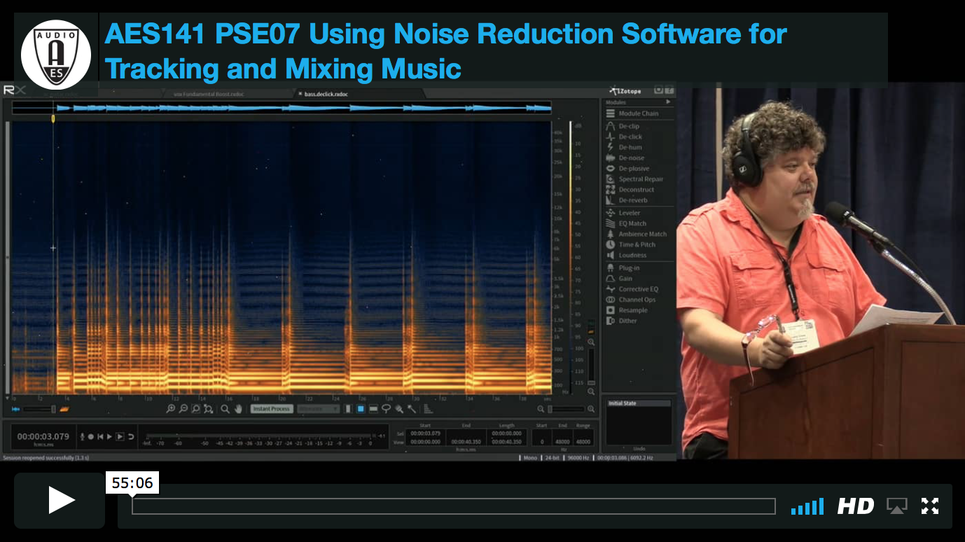 Larry Crane: Using Noise Reduction Software for Tracking and Mixing Music