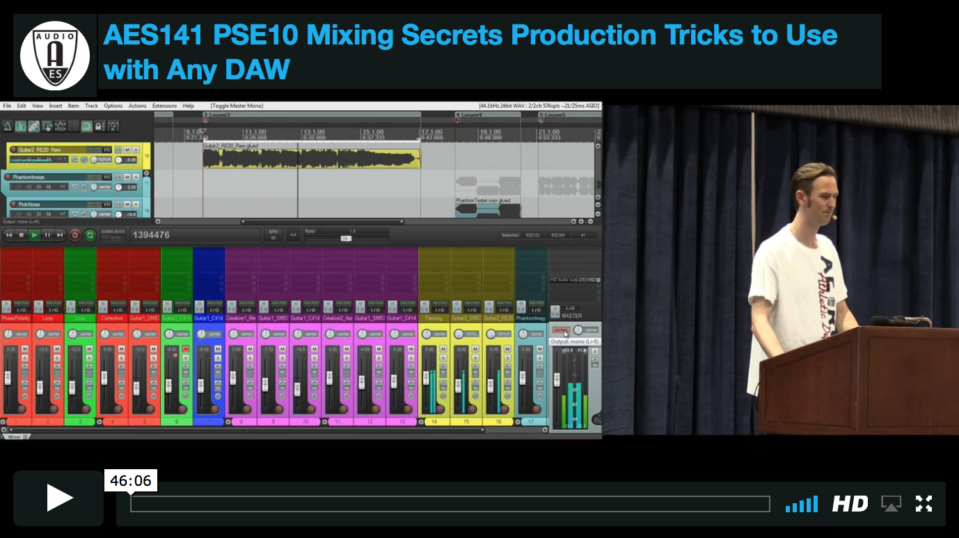 Mike Senior: Mixing Secrets: Production Tricks to Use with Any DAW (Los Angeles 2016)