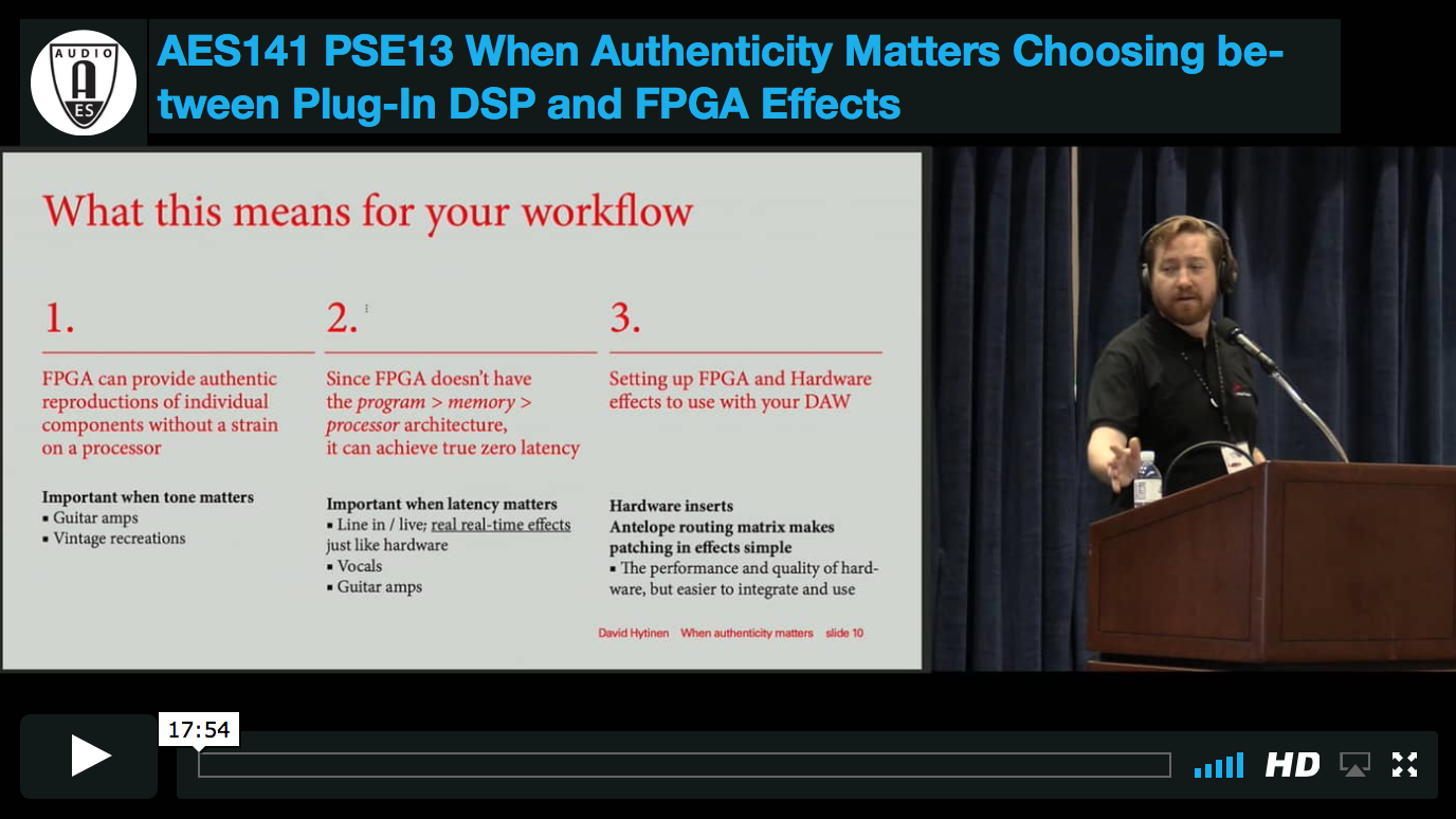 David Hytinen: When Authenticity Matters: Choosing between Plug-Ins, DSP, and FPGA Effects