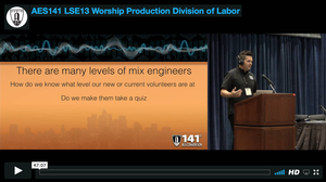 Mark Rush: Worship Production: Division of Labor
