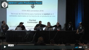 Latin Producers Panel (AES Los Angeles 2016)