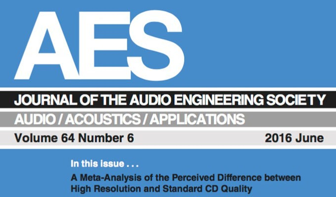 Research Finds Audible Differences with High-Resolution Audio