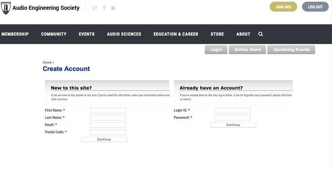 New AES Portal