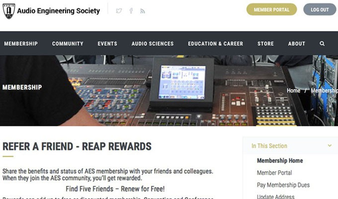 AES Refer-a-Friend Program Offers Members a Chance to Gain Free Membership, Event Access and More