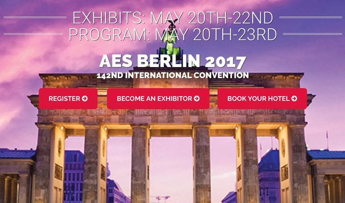 Technical Program Unveiled for AES Berlin Convention