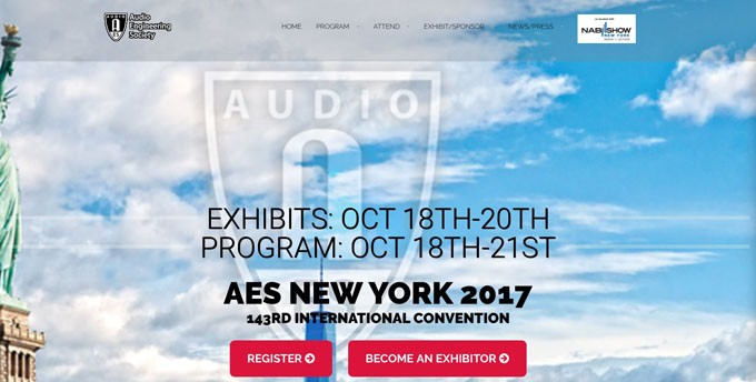 AES New York Convention Releases Preliminary Details of Tech Program