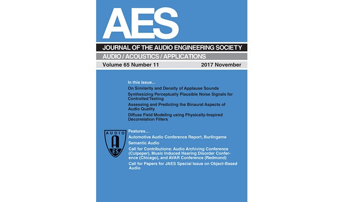 The Latest AES Journal is Now Online