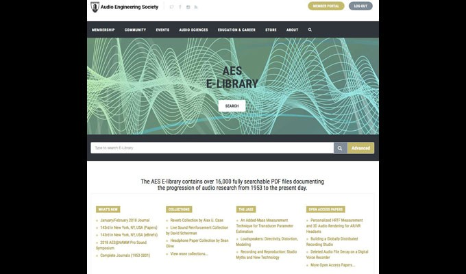 The Audio Engineering Society E-Library