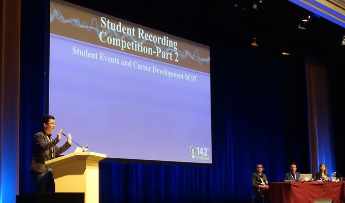 Recording and engineering notes and evaluations are presented during the 2017 AES Berlin Convention Student Recording Competition